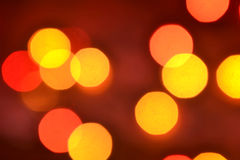 Orange and red bokeh. The background with boke. Abstract texture. Color circles. Blurred Stock Photo