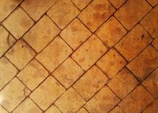 Orange and red brick walkway. sidewalk. texture. background Royalty Free Stock Photography