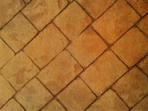 Orange and red brick walkway. sidewalk. texture. background.  Royalty Free Stock Photography