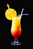 Orange - red cocktail Stock Photography