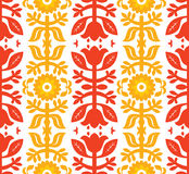 orange red för D-dekor Arkivbild