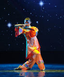 Orange red-Folk dance Royalty Free Stock Images