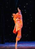 Orange red-Folk dance Royalty Free Stock Image