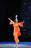 Orange red-Folk dance Stock Photography