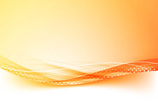 Orange and red gradient border abstract background. With dotted speed wind swoosh transparent lines. Vector illustration Royalty Free Stock Photos