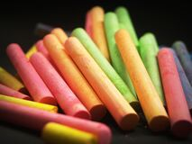 Orange Red and Green Piled Up Chalk Royalty Free Stock Photography
