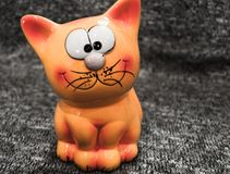 Orange-red Kut. Cat toy. royalty free stock images