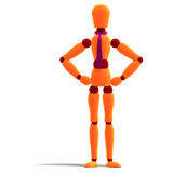 Orange and red manikin Stock Photos