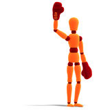Orange / red  manikin is the winner Stock Photo