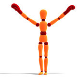Orange / red  manikin is the winner Royalty Free Stock Images
