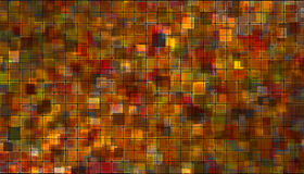 Orange - red mosaic Stock Photos
