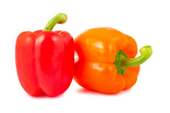 Orange and red pepper Stock Photos