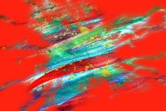 Orange red phosphorescent shapes design and pattern Stock Photos