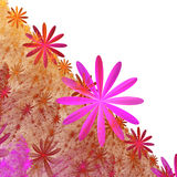 Orange red pink white ornamental floral diagonally background Royalty Free Stock Photography
