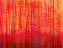 Orange and red planks. Grunge display wall. Royalty Free Stock Photos