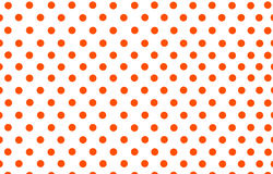 An orange red polka dot with white background. The orange red polka dot with white background Royalty Free Stock Image