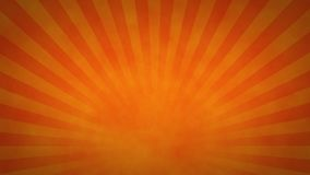 Orange and Red Rotating Sunburst Animated Looping Background stock video footage