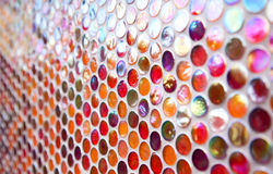 Orange and red round mosaic pattern Stock Photo