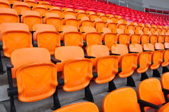 Orange and red seat Stock Image