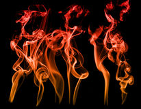 Orange and red smoke effects Stock Images