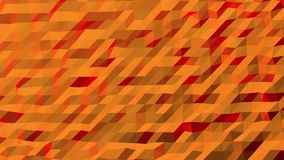 Orange and Red Toned Low Poly Pattern. Seamless looping Background Pattern Motion Design stock video