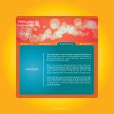 Orange - red webdesign  Stock Image