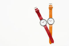Orange and red wristwatches Royalty Free Stock Photography