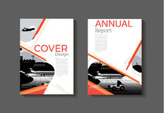 Orange red yellow abstract modern cover book Brochure template, Royalty Free Stock Images