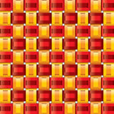 Orange red yellow gingham seamless patterns Royalty Free Stock Photos