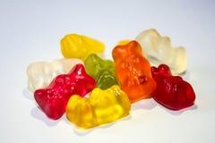 Orange Red Yellow Green Gummie Bears Stock Photo