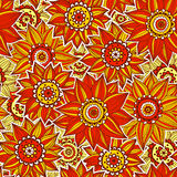 Orange and rede sunflower pattern. This is file of EPS10 format Royalty Free Stock Photography
