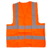 Orange Reflective Vest II. Orange reflective vest over white background Stock Photography