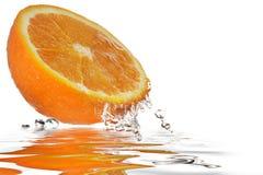 Orange Reflexion stockfotos