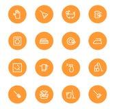 Orange Reinigungsbecher ENV Stockbilder