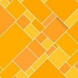 Orange rektangulär strukturerad bakgrund för vektor Arkivfoto