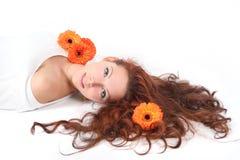 Orange relaxing Stock Photography