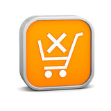 Orange Remove from Cart Sign Stock Images