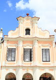 Orange renaissance house in Telc Royalty Free Stock Photography