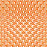 Orange repeatable Halloween owl pattern Stock Images