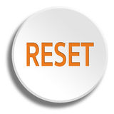 Orange reset in round white button with shadow. Orange reset in round white button Royalty Free Stock Photography