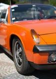 Orange retro car headlight. Royalty Free Stock Photography