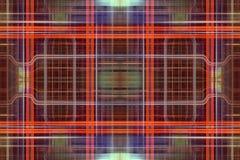 Orange Retro Grid Background Stock Images