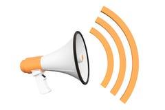 Orange Retro megaphone Stock Image