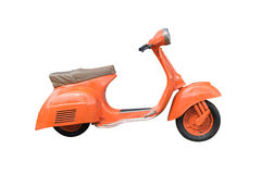 Orange Retro Motorcycle isolated on white with clipping path Royalty Free Stock Image