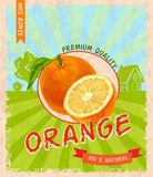 Orange retro poster Stock Photo