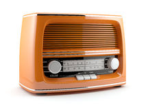 Orange retro radio Stock Image