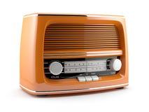 Orange retro radio. 3d illustration of orange retro radio. on white background vector illustration