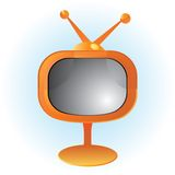 Orange retro television Stock Images