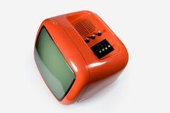 orange retro tv Στοκ Εικόνες