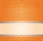 Orange Retro wallpaper background with copy space Royalty Free Stock Photography